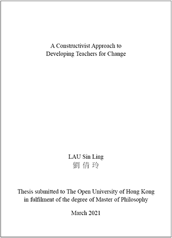 Recent Thesis Abstracts