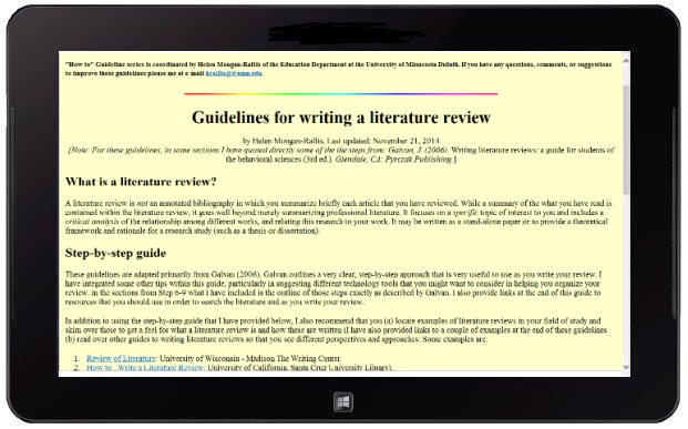 writing literature reviews galvan 2014 Buy writing literature reviews: a guide for students of the social and behavioral sciences - with model literature reviews 6th edition (9781936523375) by jose l galvan for up to 90% off at textbookscom.