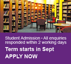 Student Admission ● All enquiries responded within 2 working days Term starts in Sept APPLY NOW