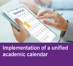 Implementation of a unified academic calendar