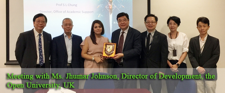 Meeting with Ms. Jhumar Johnson, Director of Development, the Open University, UK
