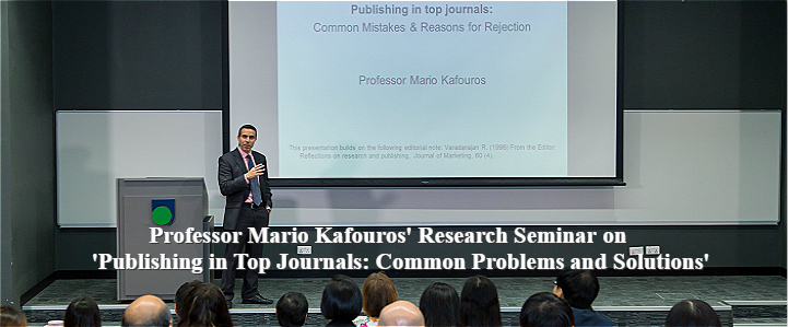 Professor Mario Kafouros' Research Seminar on 'Publishing in Top Journals: Common Problems and Solutions'