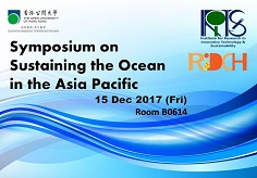 Symposium on Sustaining the Ocean in the Asia Pacific