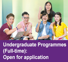 Full-time Undergraduate Programmes: Open for application