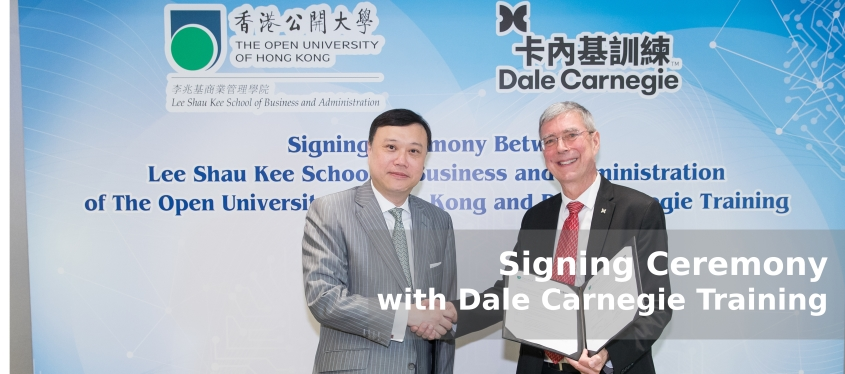 Contract Signing Ceremony with Dale Carnegie Training