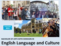Bachelor of Arts (Honours) in English Language and Culture