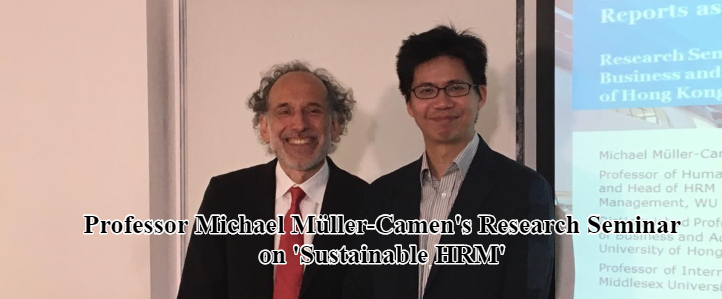 Professor Michael Müller-Camen's Research Seminar on 'Sustainable HRM'